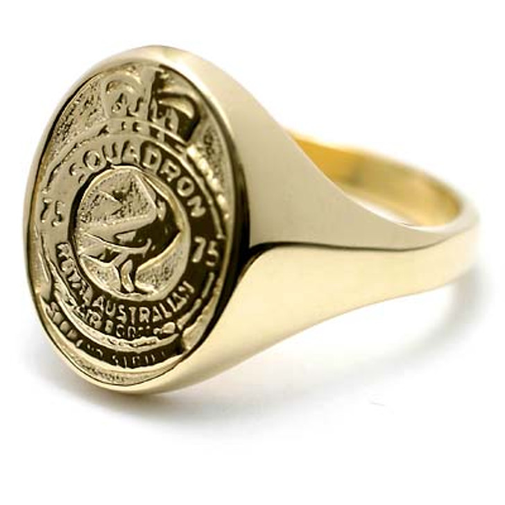 75SQN 18ct Yellow Gold Ring