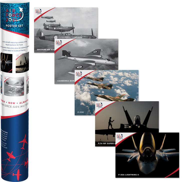 Air Force 100 Set of 5 Posters in tube