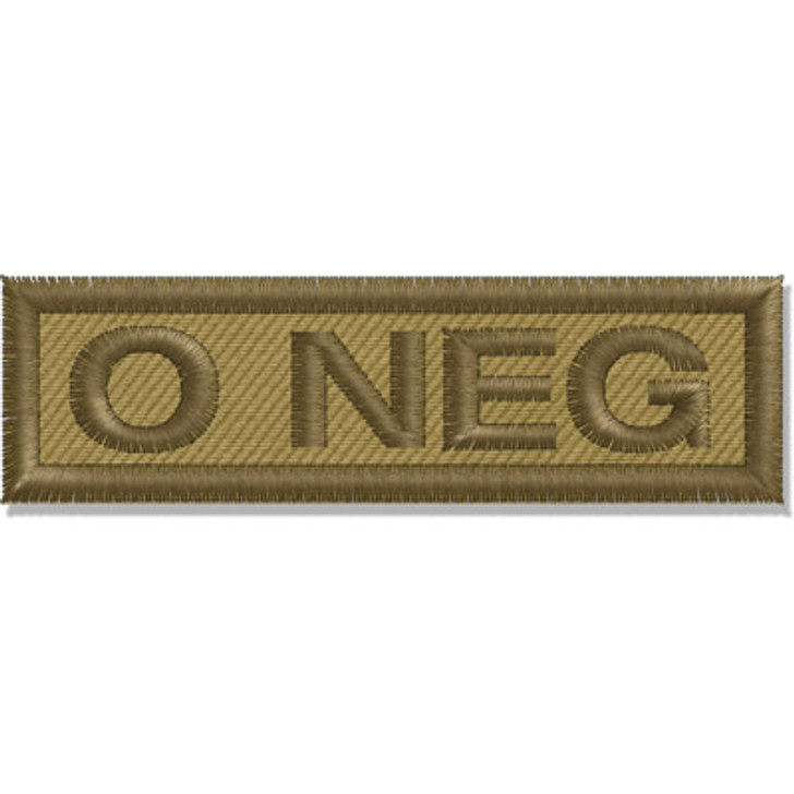 Contact Gear Blood Group Patch O Neg
