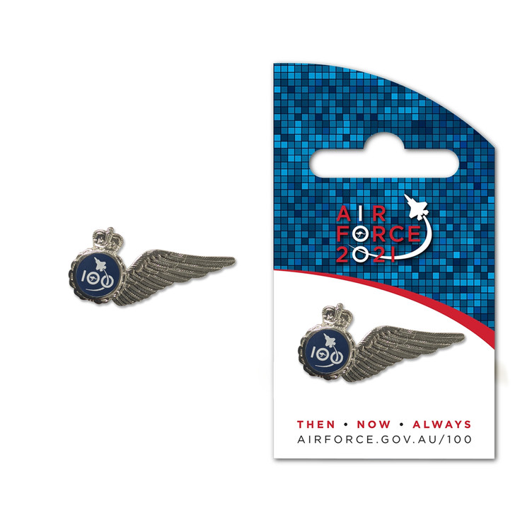 Air Force 100 Single Wing Silver Pin