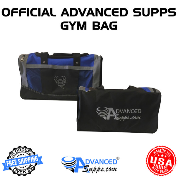 advanced supps, official, gym bag, apparel