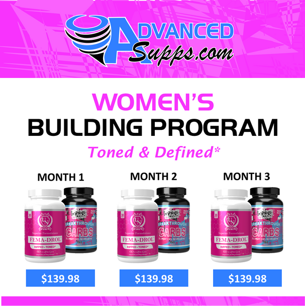 Female building program, 3 month, muscle, tone, strength