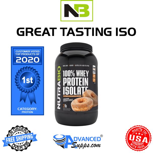 NutraBio Whey Protein Isolate (2 lb)