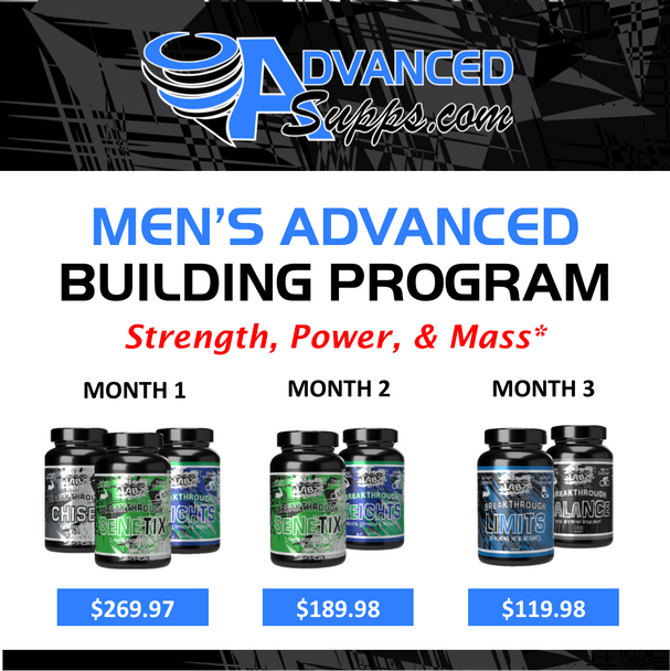 Men's Advanced 3-Month Building Program! [Months priced & available individually!]