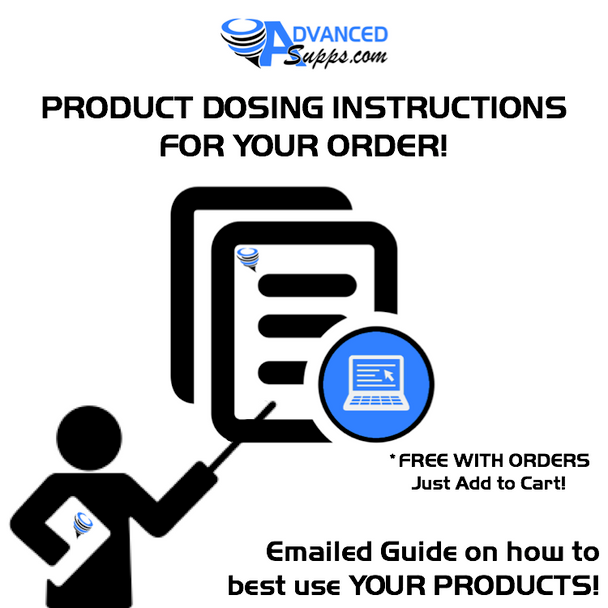 PRODUCT DOSING INSTRUCTIONS! *(FREE WITH ORDERS - Emailed Guide on how to best use YOUR PRODUCTS!)