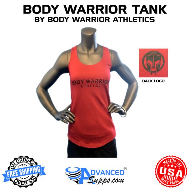 Womens Crimson Red Tank by Body Warrior Athletics