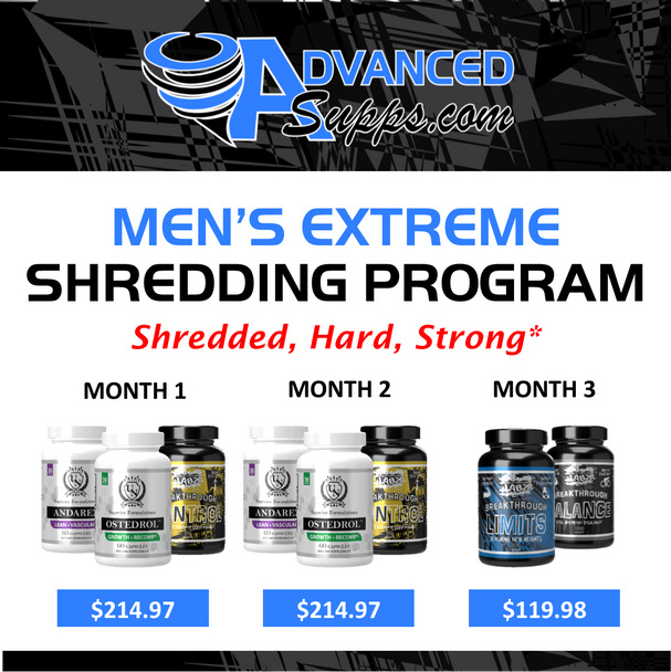 Men's Extreme Shredding 3-Month Program! [Months priced & available individually!]