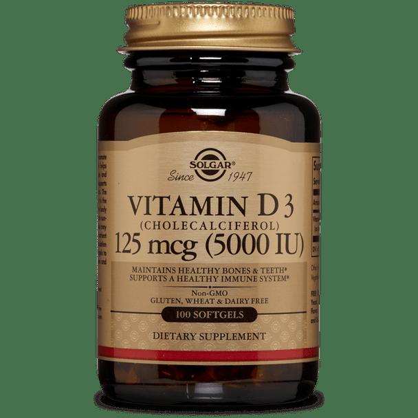 VITAMIN D3 (CHOLECALCIFEROL) 125 MCG (5,000 IU) SOFTGELS