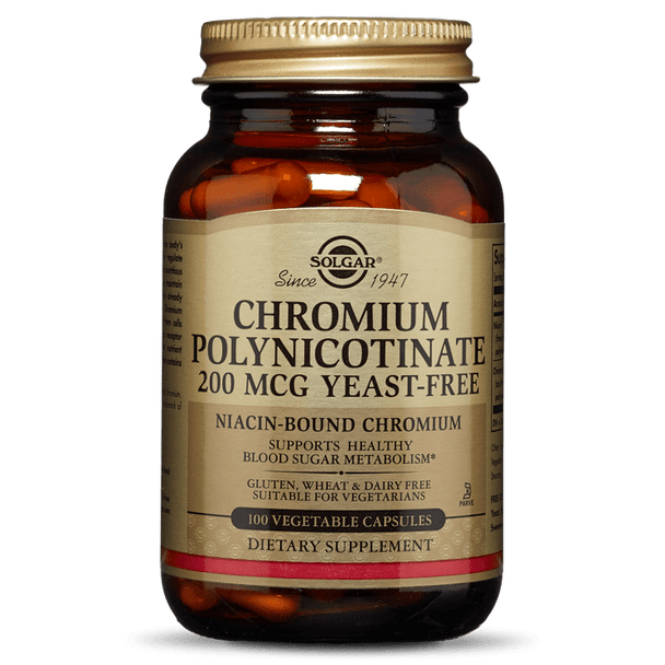 CHROMIUM POLYNICOTINATE 200 MCG VEGETABLE CAPSULES [50% off with code 'CLEARANCE']