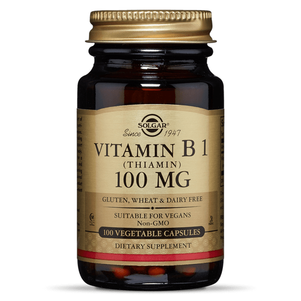 VITAMIN B1 (THIAMIN) 100 MG VEGETABLE CAPSULES [50% off with code 'CLEARANCE']