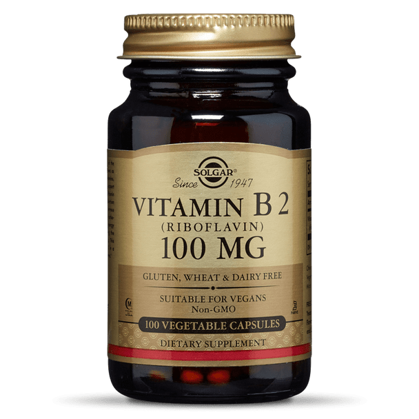 VITAMIN B2 (RIBOFLAVIN) 100 MG VEGETABLE CAPSULES [50% off with code 'CLEARANCE']