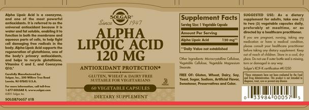 Alpha Lipoic Acid 120 mg [50% off with code 'CLEARANCE']