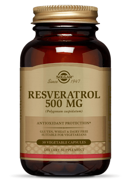 RESVERATROL 500 MG VEGETABLE CAPSULES (50% OFF with Code 'CLEARANCE')