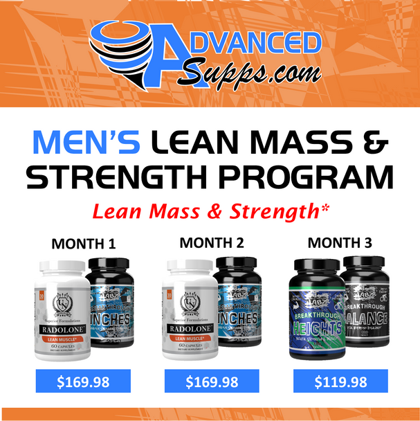 Men's Lean Mass & Strength 3-Month Program! [Months priced & available individually!]