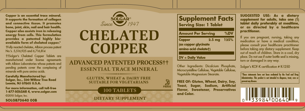 Chelated Copper Tablets [50% off with code 'CLEARANCE']