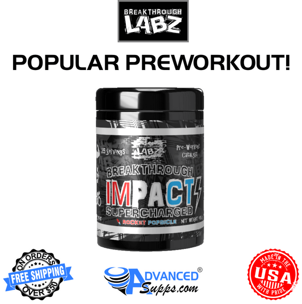 Breakthrough Labz Impact Supercharged, $39.99, USD, Available, preworkout, strength, stamina