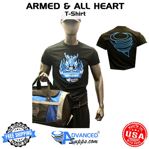 armed & all heart, t shirt, t-shirt