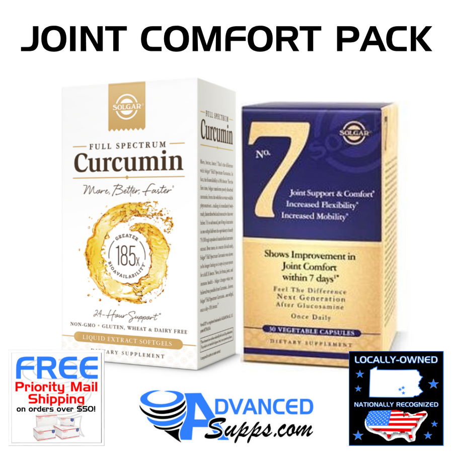 CURCUMIN & NO. 7: Joint Comfort Pack