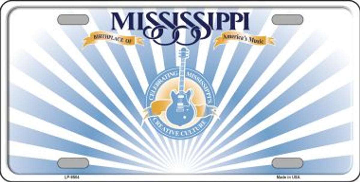 Mississippi Thin Red Line Wholesale Metal Novelty Wall Decor License Plate