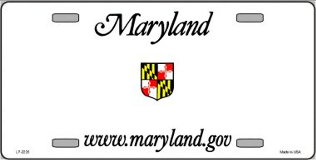 maryland novelty state background blank wholesale metal license plate