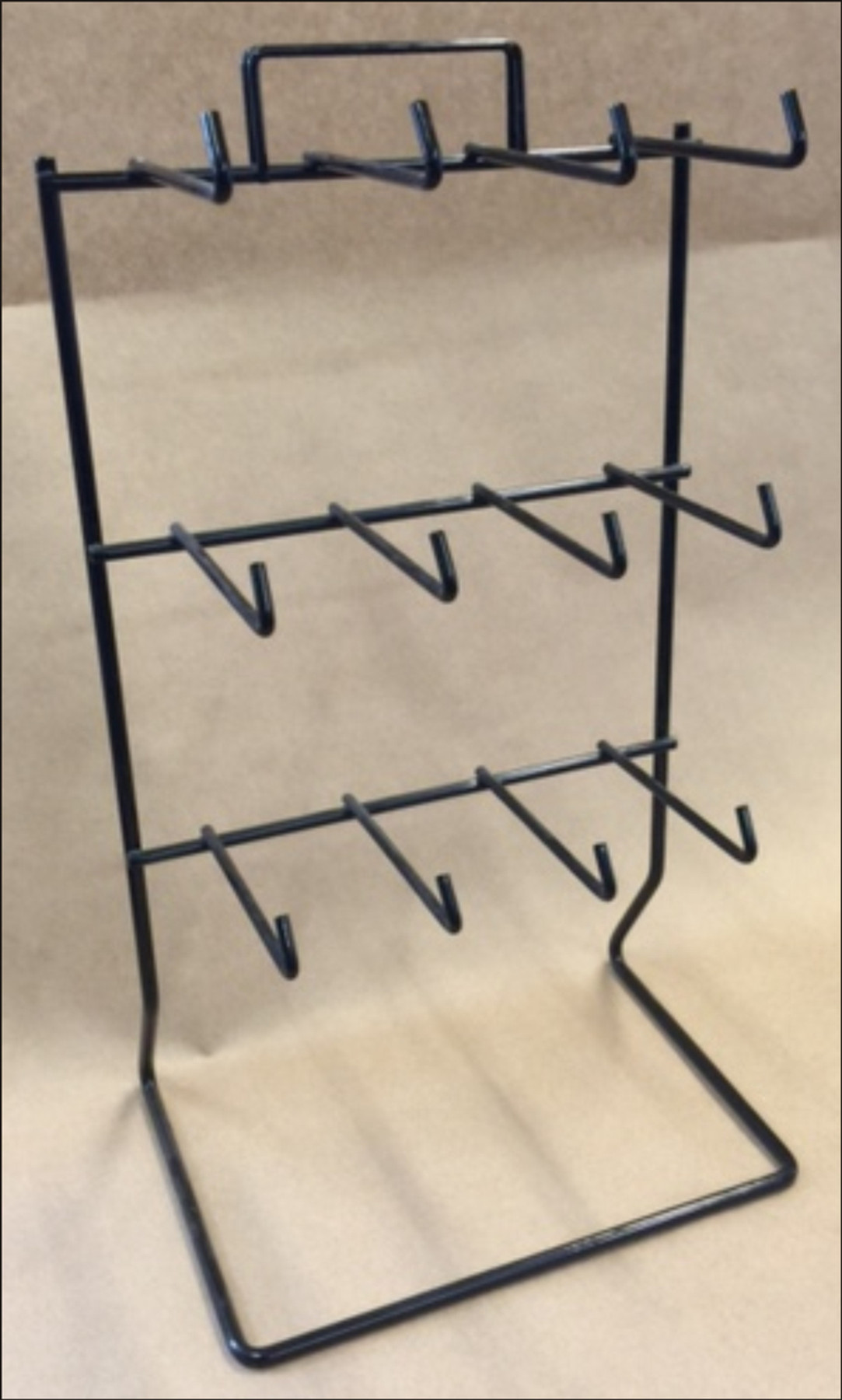 Counter Top Black Wire Keychain 12 Peg Display Rack DR-KC