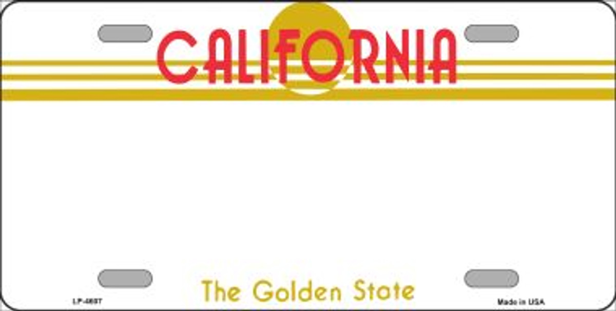 California Thin Blue Line Wholesale Metal Novelty Wall Decor License Plate