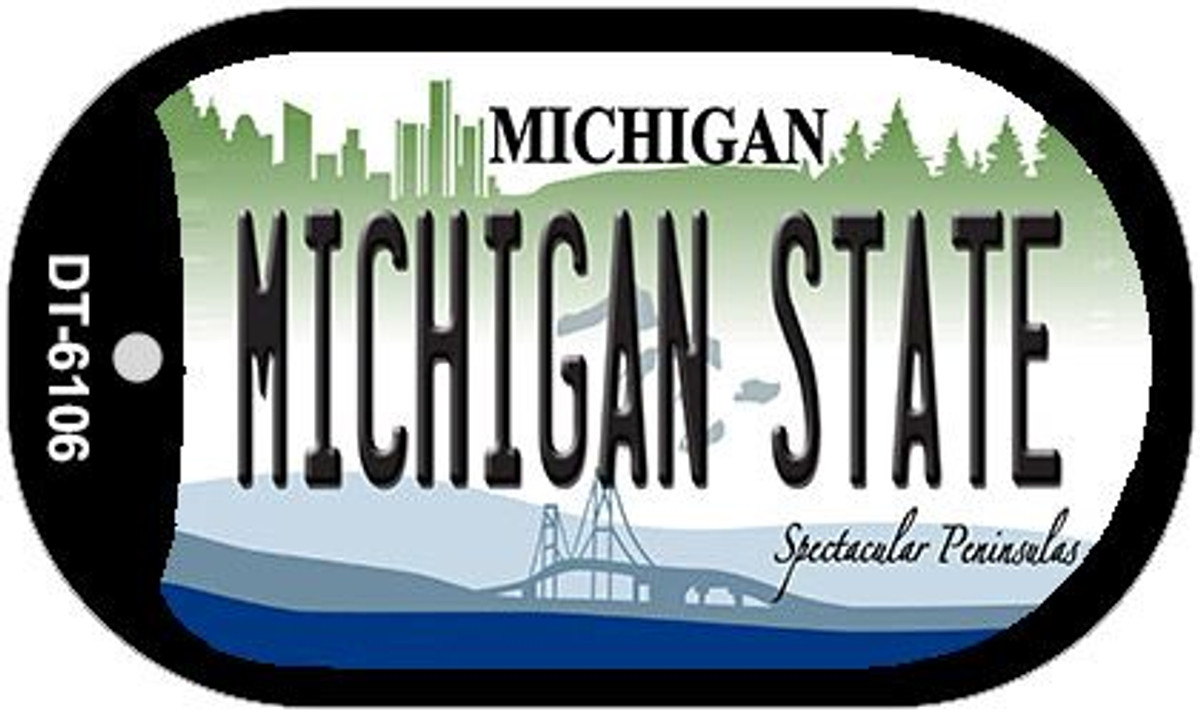DETROIT MICHIGAN STATE BACKGROUND METAL NOVELTY LICENSE PLATE TAG