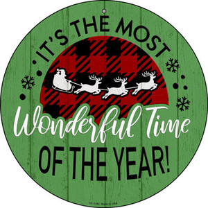 Most Wonderful Time Wholesale Novelty Small Metal Circular Sign UC-1352