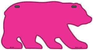 Solid Pink Wholesale Novelty Metal Bear Tag BR-003