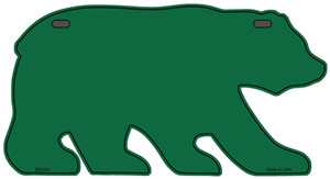 Solid Green Wholesale Novelty Metal Bear Tag BR-004