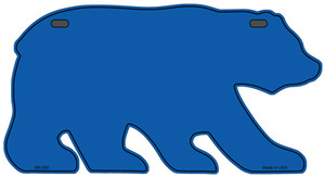 Solid Blue Wholesale Novelty Metal Bear Tag BR-005