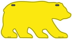 Solid Yellow Wholesale Novelty Metal Bear Tag BR-006