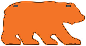 Solid Orange Wholesale Novelty Metal Bear Tag BR-007