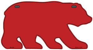Solid Red Wholesale Novelty Metal Bear Tag BR-008