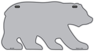 Solid Gray Wholesale Novelty Metal Bear Tag BR-009