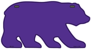 Solid Purple Wholesale Novelty Metal Bear Tag BR-010