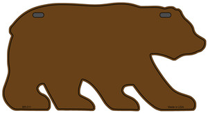 Solid Brown Wholesale Novelty Metal Bear Tag BR-011