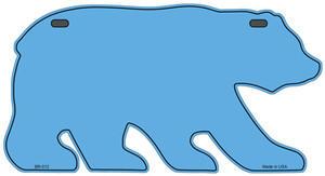Solid Light Blue Wholesale Novelty Metal Bear Tag BR-012