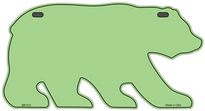 Solid Lime Green Wholesale Novelty Metal Bear Tag BR-013