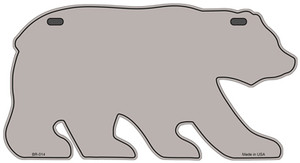 Solid Tan Wholesale Novelty Metal Bear Tag BR-014