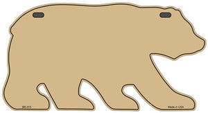 Solid Gold Wholesale Novelty Metal Bear Tag BR-015