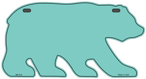 Solid Mint Wholesale Novelty Metal Bear Tag BR-016