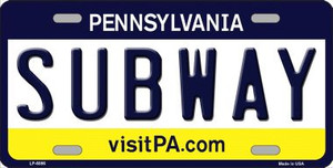 Subway Pennsylvania State Background Novelty Wholesale Metal License Plate