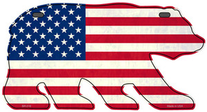 American Flag Wholesale Novelty Metal Bear Tag BR-018