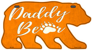 Daddy Paw Orange Wholesale Novelty Metal Bear Tag BR-025