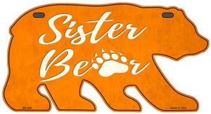 Sister Paw Orange Wholesale Novelty Metal Bear Tag BR-026
