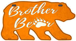 Brother Paw Orange Wholesale Novelty Metal Bear Tag BR-027