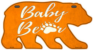 Baby Paw Orange Wholesale Novelty Metal Bear Tag BR-028