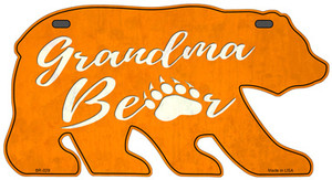 Grandma Paw Orange Wholesale Novelty Metal Bear Tag BR-029