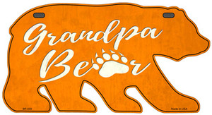 Grandpa Paw Orange Wholesale Novelty Metal Bear Tag BR-030
